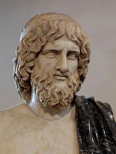 Tête d'Hadès, copie romaine d'une statue grecque. Nefertari J. Águilar.