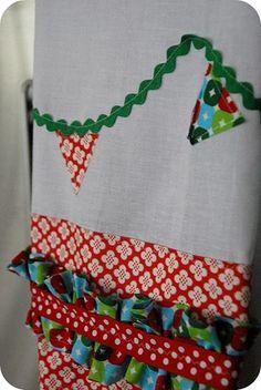 Ruffled dish towel