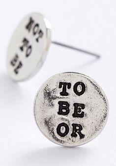 Whether Tis Nobler Earrings