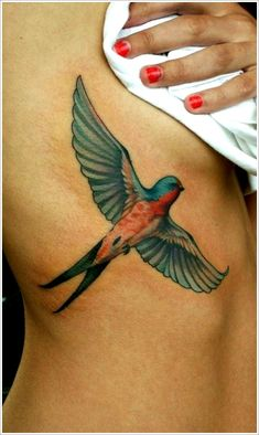 Swallow Tattoos Ideas: Swallow Tattoo Designs For Women On Side ~ heledis.com Tattoo Ideas Inspiration