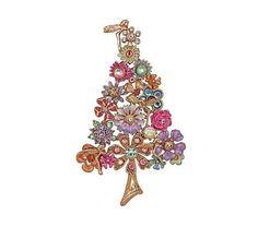 Kirks Folly Fantasia Fairy Flower Christmas Tree Pin
