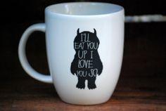 coffee mug, stuff, etsi, wild things, hous, gift idea, coffee and tea gifts, black friday, mugs