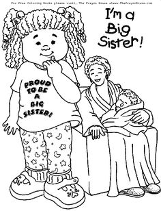 Another big sister coloring page