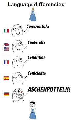 Oh, German.