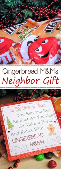Gingerbread M&Ms Neighbor Gifts for Christmas - Crazy Little Projects #shop #HolidayMM and #cbias