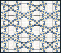 QDNW Jack's Chain w/o Y-seams by Marjorie Rhine, includes EQ7 downloadable pattern