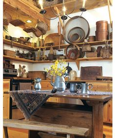 Country Kitchens and Dining Rooms on Pinterest