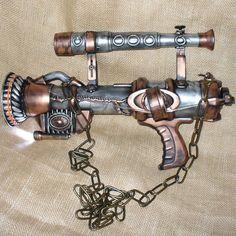 Magnificently done steampunk gun.