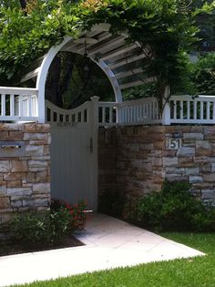 Gorgeous front gate