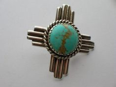 Turquoise Zia Pin