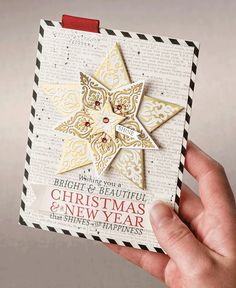 Bright and Beautiful indeed! Add an extra layer of elegance to your cards this year with this stamp set and coordinating Stars framelits.