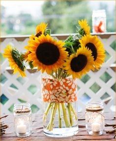 sunflowers for fall birthday