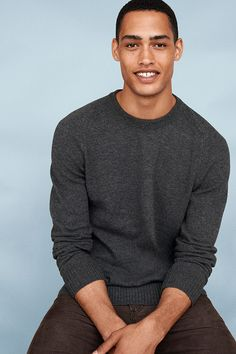 """Sometimes the best style advice is """"strip down to simple"""". Invest in a staple piece like this crewneck sweater and wear it over and over again this season. #DressNormal"""
