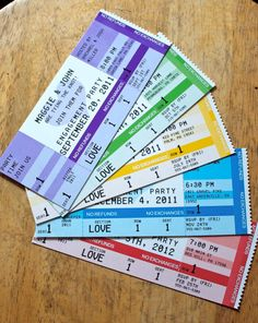 Concert ticket party invitations...I want to have a party now!