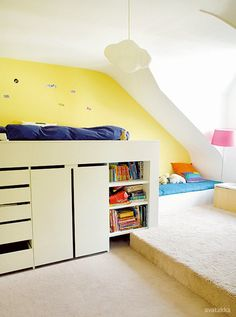 Loft beds are a great way to save space.
