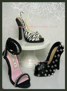 Fondant Heels & Gumpaste Stilettos http://www.sugarandspicecakes.co.nz/