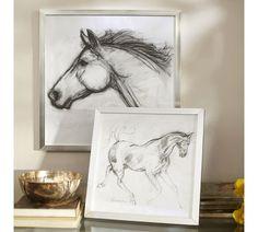 Framed Horse Sketches | Pottery Barn