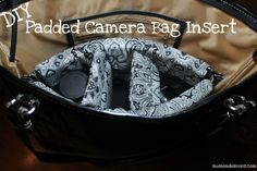 DIY Padded Camera Bag Insert--turn any purse or tote into something safe to carry your DSLR in!!