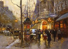Chatelet - Edouard Cortes - Post-impressionist. I tried to copy one of his paintings when I was 10 yrs . old.