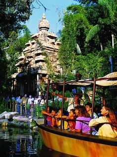 jungle cruise disneyland [indiana jones ride in background]