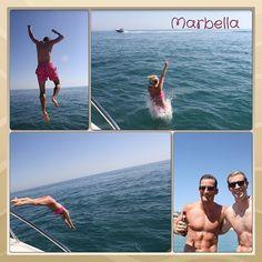 Fun in the sun #prewedding #marbella #boat #