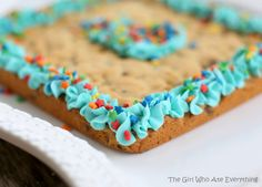 Chocolate Chip Cookie Cake with Buttercream Frosting | The Girl Who Ate Everything
