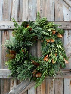 Christmas Wreath holiday, christmas wreaths, barn doors, green, door decor, country christmas, fall wreaths, magnolia, winter wreaths