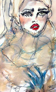 fashion illustration | Blair Breitenstein on megbiram.com