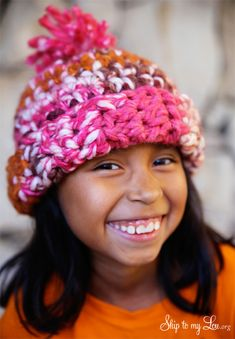 How to crochet a winter hat. Tutorial and pattern. #hat #crochet  skiptomylou.org