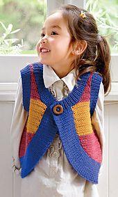 Ravelry: 214a-27 Striped Vest pattern by Pierrot (Gosyo Co., Ltd)