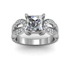 Stunning Celtic engagement ring #celtic #splitshank #princesscut #engagement #engagementrings #jewelry #artdeco #weddings $1816