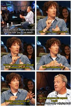Benedict explaining the fall...oh Jeremy!