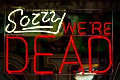 ~ Sorry, we're dead