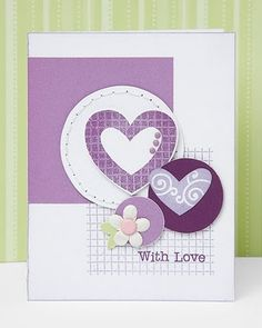 """""""With Love"""" card idea from #CTMH."""