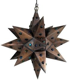 Hometown Evolution: Hometown Evolution Store > 15 Inch Tin Star Light With Marbles, Tin Star Lights
