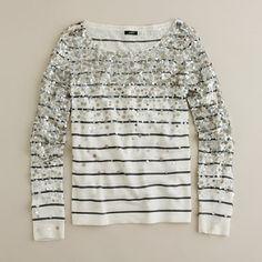 sweater, bombs, sequin, j crew, outfit, beauti, jcrew, closet, stripe