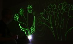 Glow in the dark interior wall paint