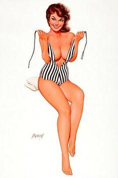 stripes bath suit, bathing, 50s pinup, white swimsuit, art, beach, tattoo, stripe, pin up girls