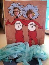 Photo stop for a Dr. Seuss themed dance.