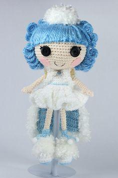 LALALOOPSY Ivory Ice Crystals Amigurumi Doll by Npantz22