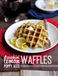 Zucchini Waffles with Lemon and Poppy Seed - 10th Kitchen