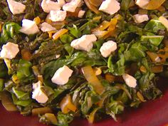 Wilted Greens with Ricotta Salata from Giada de Laurentiis