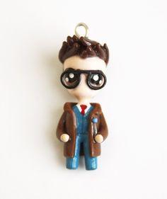 10th Dr. Who - Miniature Sculpture - Charm Necklace