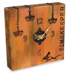Cigar Box Clock DIY. Cigar Boxes available at http://shopjunket.com/?s=cigar+box_type=product