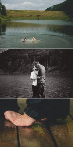 Jump in the lake Engagement Shoot