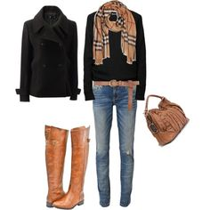 boots, scarf and black shirt...yes.