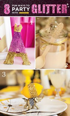 Great crafting ideas to Party with Glitter!