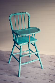 High chair painted
