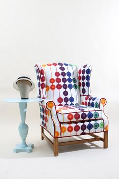 Love this. Refurbished Vintage Wingback Arm Chair by JessicaAllynDesigns, $990.00