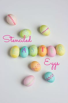DIY Stenciled Easter Eggs